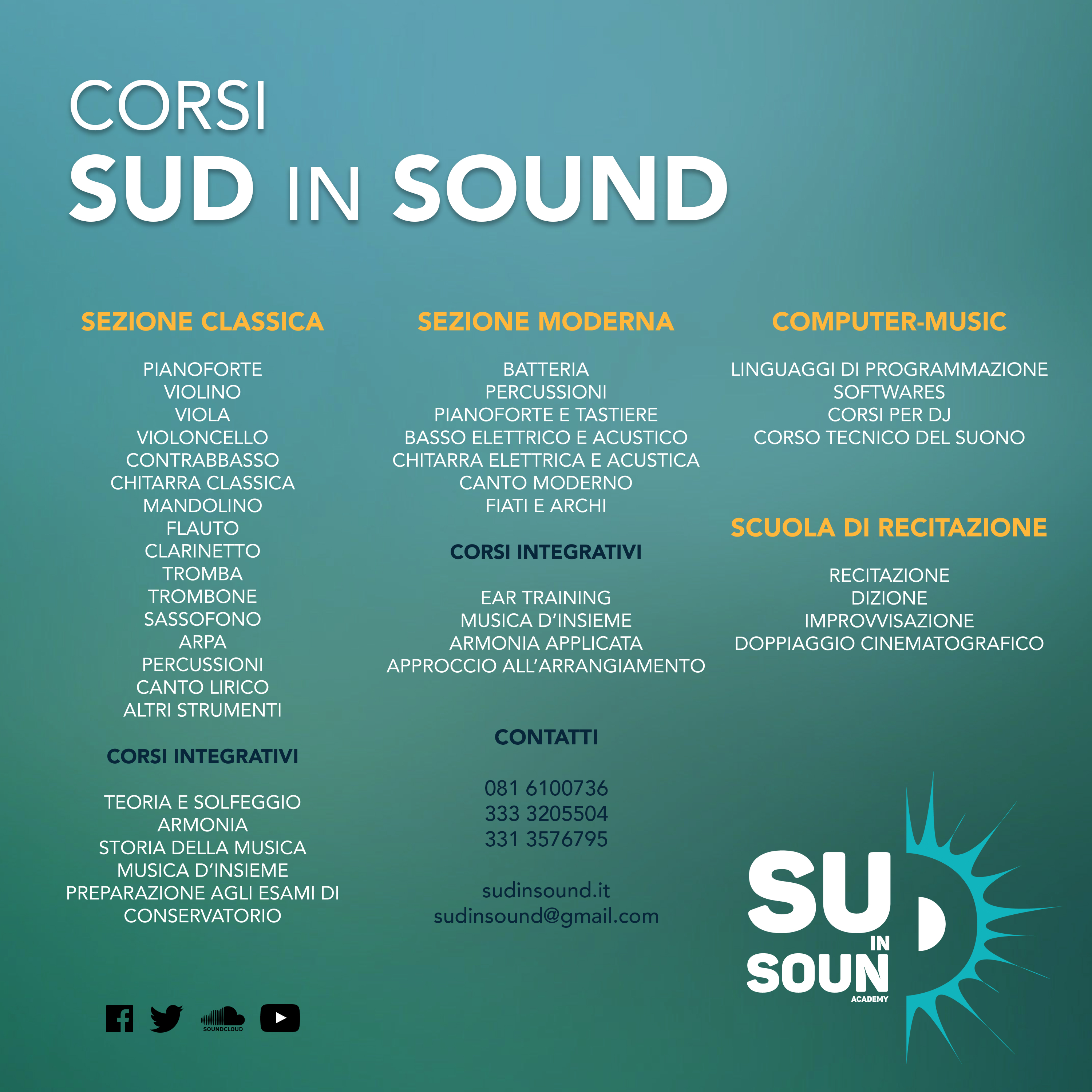 Corsi Base Sud in Sound