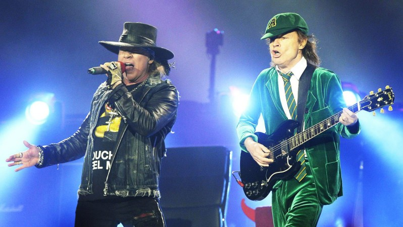 Axl Rose & Angus Young